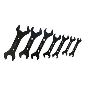 Cnc Machined Aluminum Black 7 Double End an Wrench Set 3an 20an Hose Fitting