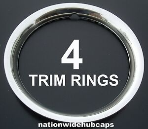 4 Chevy El Camino 15 Steel Wheel Trim Rings Beauty Rims Glamour Ring Rim Bands
