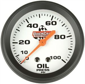 Quickcar 611 6003 Analog 2 5 8 Replacement Oil Pressure Gauge W 1 8 Npt Male