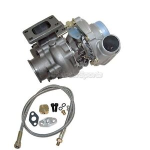 T3 T4 Turbo Charger W Wastegate 8psi 350 Hp For Bmw E30 E36 oil Feed Line Kit