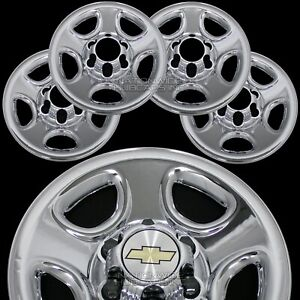 Set Of 4 Chevy 1500 6 Lug 16 Chrome Wheel Skins Rim Simulators Hub Caps Covers