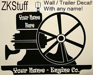Hit Miss Gas Farm Collector Engine Motor Magneto Show Wall Trailer Decal Sign