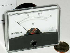 One New 150 120 Vac Ac Volt Analog Pointer Needle Line Panel Meter Voltmeter Usa