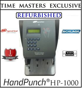Certified Refurbished Ingersoll Rand Schlage Handpunch Hp 1000 W amg Software