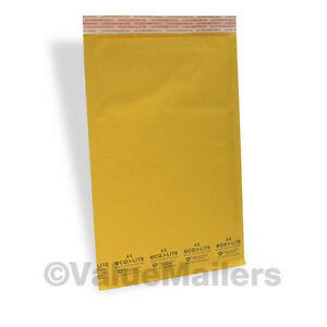 2000 3 8 5x14 5 Kraft Bubble Mailers Padded Envelopes Mailer Bags Ecolite