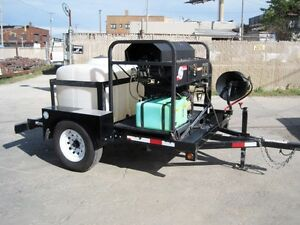 Trailer Mounted Pressure Washer Cleaning Equipment Diesel Power Washer