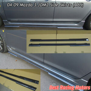 Ms Aero Style Side Sills Skirts abs Fits 04 09 Mazda 3