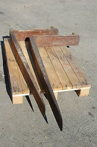 Qty 2 Forks 1 Pair Blades 56 Long 5 Wide Forklift 20 Between Hangars Guar