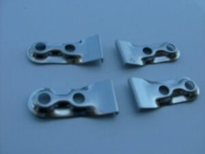 Fulton Sunvisor Clips Center Pinch Clips 4 Pc Set 1930 S 1940 S Buick Pontiac