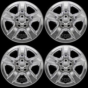 4 New 2006 2012 Toyota Rav4 17 Chrome Wheel Skins Hub Caps Full Rim Skin Covers