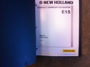 New Holland Excavator E15 Complete Parts Manual