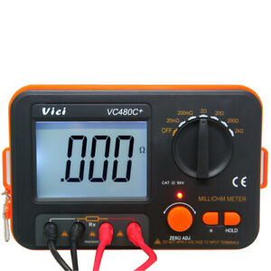 Vc480 Precision Milliohm Meters Vs Extech 4 Wire Kelvin Clip 0 Adjust Large Lcd