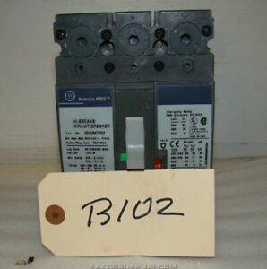 Ge 100a 3 Pole 600v Circuit Breaker Seha36at0100