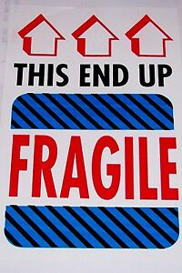 500 4x6 Fragile Glass Handle With Care This End Up Label Sticker