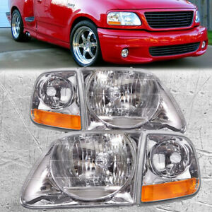 Headlights 4pc Set W Corner Light Set Fits Ford F150 Expedition Lightning Style