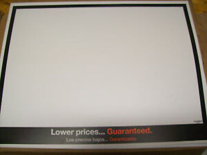 Indoor Outdoor Plastic Price Signs 22x17 X100