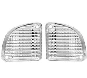 1967 1972 Chevy Pickup Truck Backup Light Lens Clear Fleetside Pair 2 Pieces