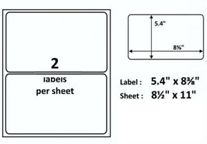 Framed For Easy Removal 20 Self Adhesive Shipping Mailing Labels 2 8 5x11 Sheet