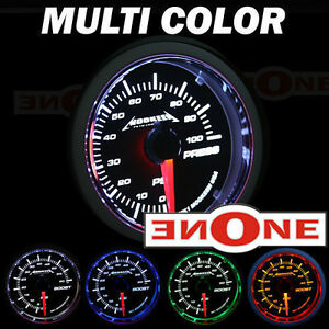 Mk1 Electric Oil Pressure Led Blue Gauge Kit W Sender