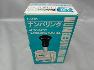 Automatic Numbering Machine A 31 13 Wheels Made In Japan