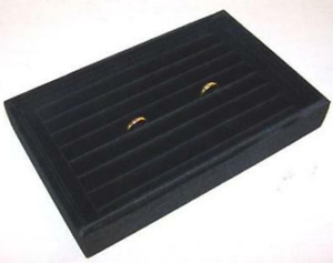 2 New Black Color Small Ring Tray Display Box Counter Store Boxes Rings Displays