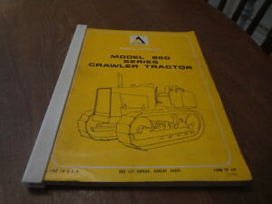 Allis Chalmers 650 Crawler Tractor Parts List Catalog Manual Tp 107