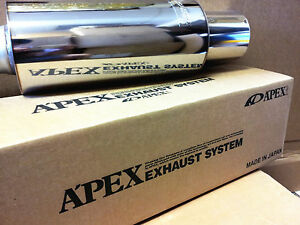 Apexi N1 Universal Exhaust Turbo Muffler 3 75mm Inlet 156 A003