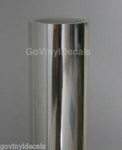 25 X 36 Silver Chrome Mirror Vinyl Continuous Roll