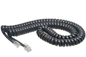 25 Cisco Systems Ip 7900 Series Phone Handset Curly Cords 12 Foot Exact Gray
