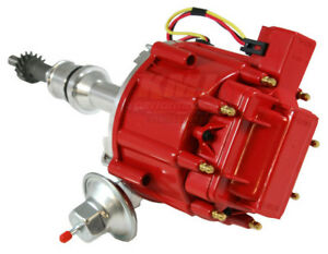 Ford 351c 351m 400 429 460 Hei Distributor 65 000 Volt Coil 7500 Rpm Module Red