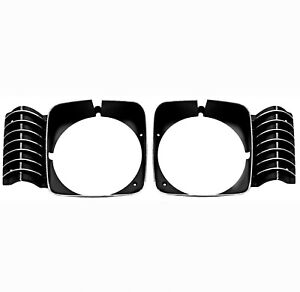 1969 1970 1971 1972 Chevy Nova Headlamp Headlight Bezel Set Pair Right Left
