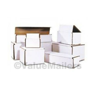 200 6x4x3 White Corrugated Shipping Mailer Packing Box Boxes 6 X 4 X 3