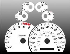 2005 2006 Toyota Tundra Dash Cluster White Face Gauges 05 06