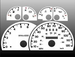 1998 2003 Ford Ranger Explorer Dash Cluster White Face Gauges 98 03