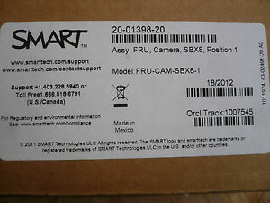 New Smart Fru cam sbx8 1 20 01398 20 Replacement Whiteboard Camera 800 Series