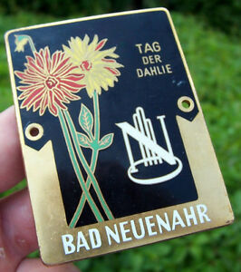 German Car Badge day Of The Dhalia From 1954 Bad Neuenahr For Porsche Bmw Vw