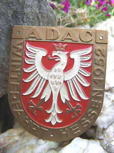 German Car Badge Adac Winter Race 1952 Hesse Eagle For Porsche 356 Bmw Mercedes