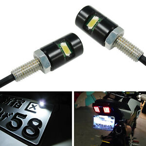 12v White 5730 Smd Bolt On Led License Plate Lights For Motorcycle Bike Or Car