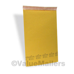 4 200 9 5x14 5 Kraft Ecolite 100 Usa Bubble Mailers Envelopes Bags Self Seal