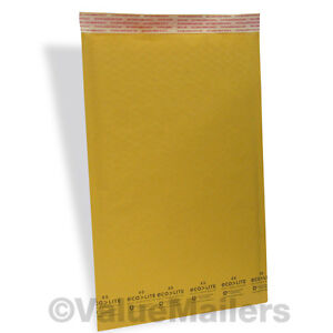 5 400 10 5x16 Kraft Usa Ecolite Bubble Mailers Padded Envelopes Bags Self Seal