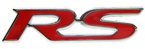 Rs Badge Red Emblem 3d Fit Toyota Yaris Vitz Camry Crown Vios Rear