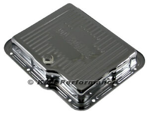 Gm Chevy Powerglide Chrome Automatic Transmission Pan Stock Capacity W Drain