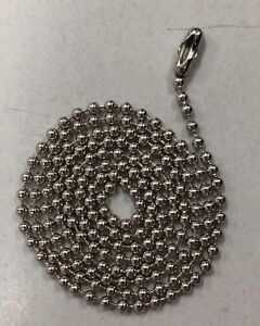 1000 Ball Chains Stainless Steel 24 Inch 3 Dog Tag Bead Chain Usa Made