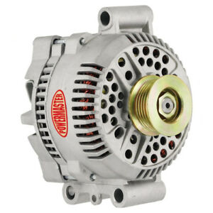 Powermaster 47768 Ford 200 Amp 3g Large Alternator 6 Groove Pulley Natural