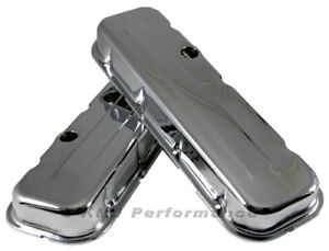 Bbc Chevy 454 Short Chrome Steel Valve Covers 396 402 427 502 Big Block