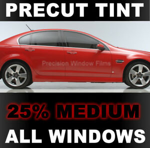 Precut Window Tint For Hyundai Sonata 4 Dr 2011 2012 2013 Medium 25 Vlt