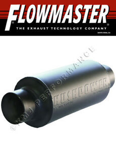 Flowmaster 13512100 Pro Series Shortie Muffler 3 5 Inlet Outlet Round 409s