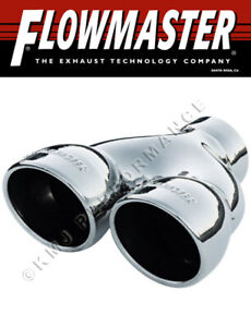 Flowmaster 15369 Dual Polished Weld on Exhaust Tip 3 5 Rolled Angle Fits 2 5