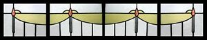 Amazing Edwardian Set Of 4 Antique English Stained Glass Windows