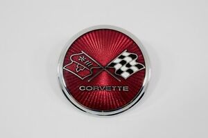 1975 1976 Corvette Front Emblem Correct Cloisonne Glass Made In The Usa